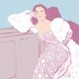 Nigella Lawson, Nigella, cook, portrait, Marilyn Monroe, illustration